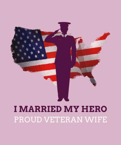 Veteran Wife T-Shirt Design Template 1815k