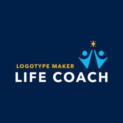 Logo Maker with Two Minimalist Figures for a Life Coach 2552d