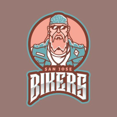 Logo Maker with a Fierce Biker Inspired in Grand Theft Auto 2513ii-2524