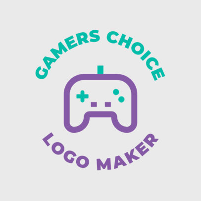 Minimal Gaming Logo Maker Featuring a Game Controller Clipart 1636f 8-el