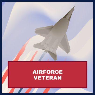 Instagram Post Creator to Honor US Air Force Veterans 1802b