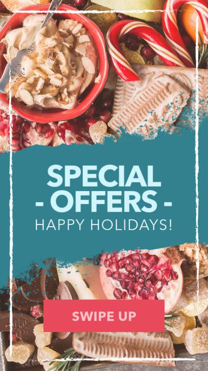 Holiday Insta Story Template with Xmas Offers 582m-1823