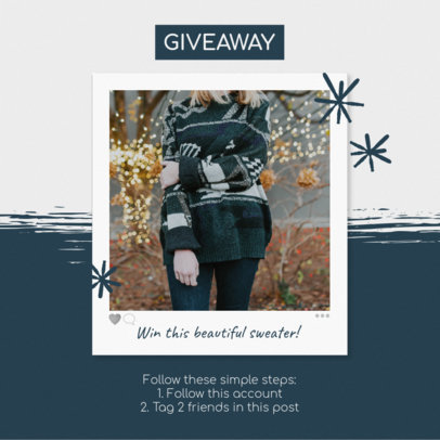 Instagram Post Template for a Christmas Giveaway 643j 1833