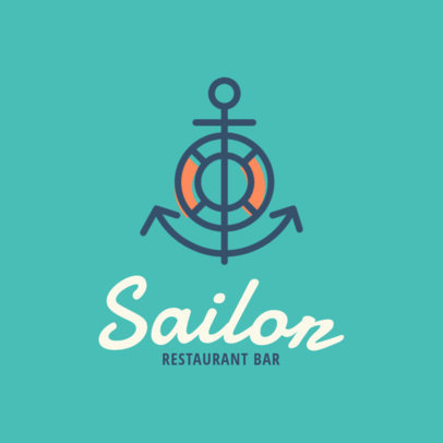Simple Online Logo Generator for a Beach Restaurant 1760f-11-el