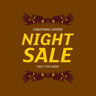 Social Media Post Creator for a Winter Night Sale Ad 626k