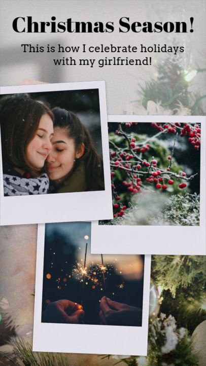 Instagram Story Generator for a Christmas Collage 960l 1826