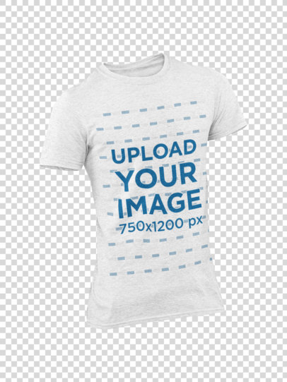 Ghosted Mockup of a Heathered T-Shirt for Men with Customizable Background 29374