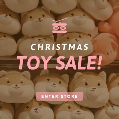 Christmas Banner Maker for a Toy Sale 779k-1839