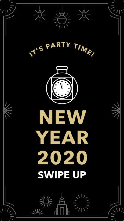 New Year's Celebration Instagram Story Design Template 1832e