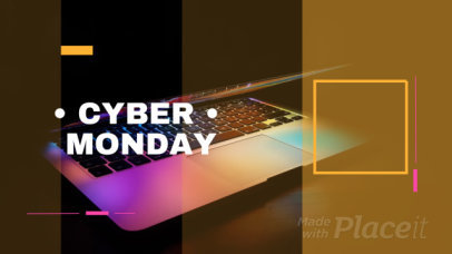 Cyber Monday Facebook Cover Video Maker with Animated Text and Shapes 1236a-36