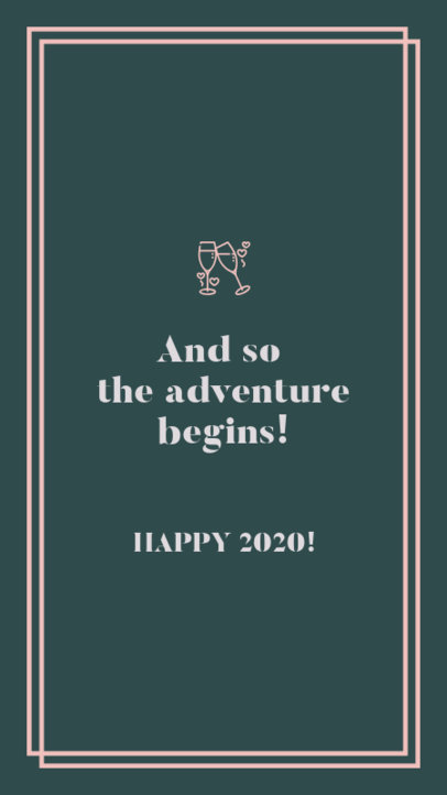New Year Instagram Story Template with an Inspiring Quote 597x 1829
