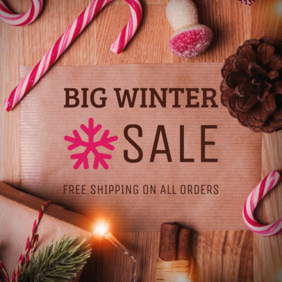 Holiday Facebook Post Template for a Special Winter Sale 564x 1835