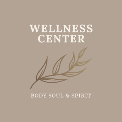 Alternative Medicine Logo Maker for a Wellness Center 2578b