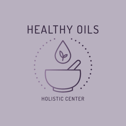 Logo Template for Alternative Medicine Services with a Mortar Graphic 2578g