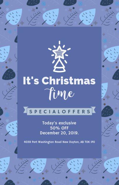 Online Flyer Maker for a Flash Christmas Sale 848j-1837