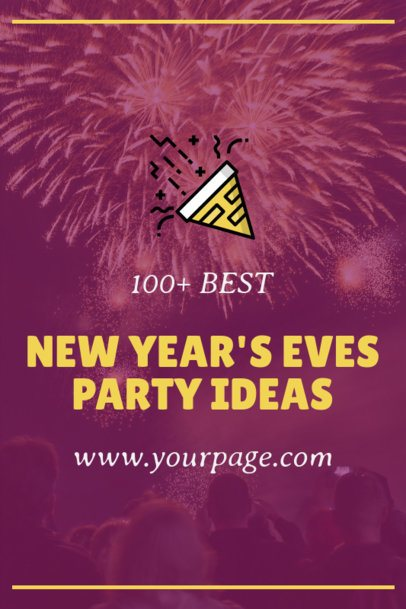 Pinterest Pin Generator for New Year Party Ideas Featuring Fireworks 1768f-1862