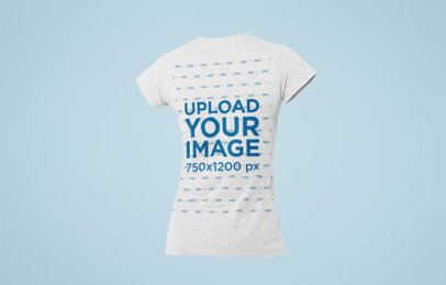 Mockup of a Ghosted T-Shirt for Women over a Plain Backdrop 29375