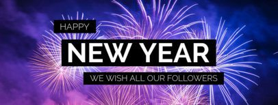 Facebook Cover Template for a New Year's Celebration 1084h-1860