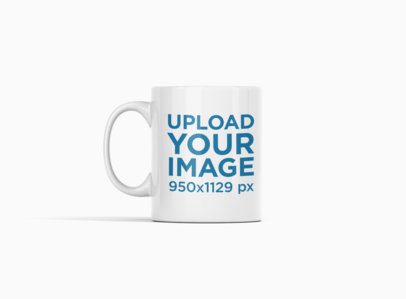 Minimalist Mockup of an 11 oz Coffee Mug at a Colored Backdrop 693-el
