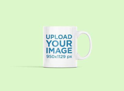 11 oz Coffee Mug Mockup Featuring a Customizable Background 694-el