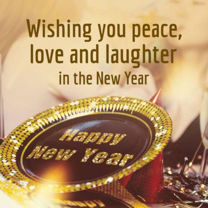 Social Media Post Maker with a Tender Message for New Year 563x-1861