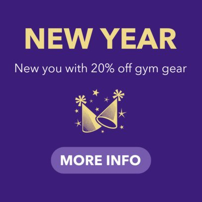 New Year Banner Template for Special Holiday Deals 16612g-1859