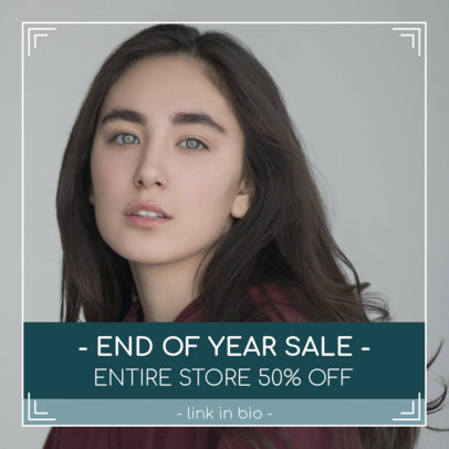 Instagram Post Generator for an End of Year Sale 1102h 1858