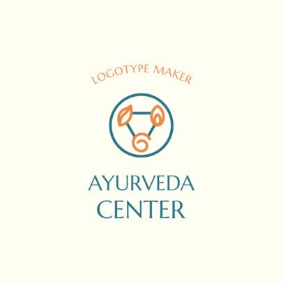 Alternative Medicine Logo Generator for an Ayurveda Center 2580a