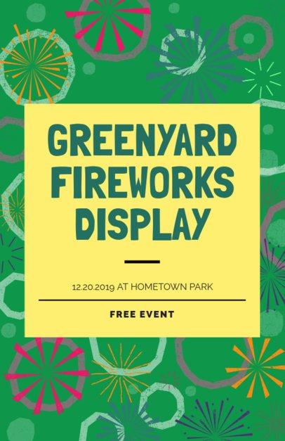 Flyer Maker for a Fireworks Display 238n-1870
