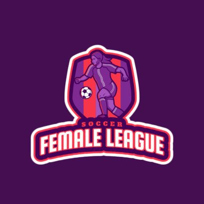 Logo Maker for a Female Football Soccer League 2601a