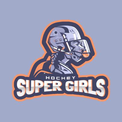 Hockey Logo Maker for a Women's Team 1560h-2601