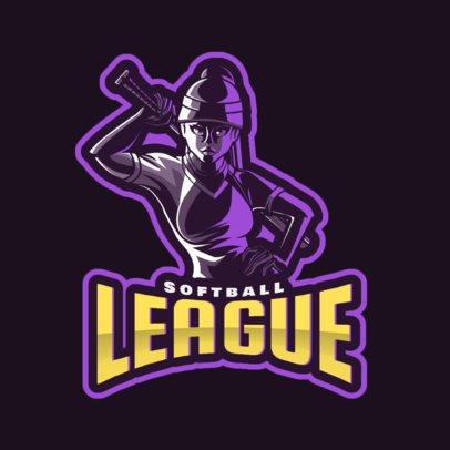 Online Logo Maker for a Softball League 172cc-2601