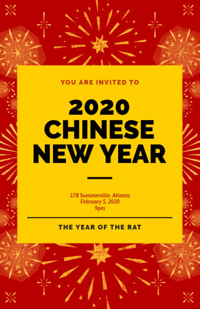 Flyer Maker to Celebrate the Chinese New Year 238q-1870