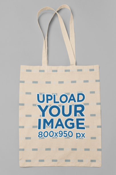 Minimal Tote Bag Mockup Featuring a Customizable Background 29604