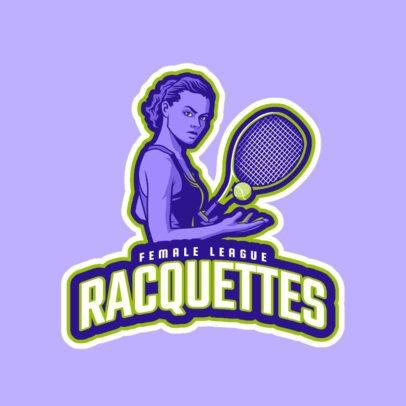 Tennis Logo Maker for a Women's Team 1600f-2601