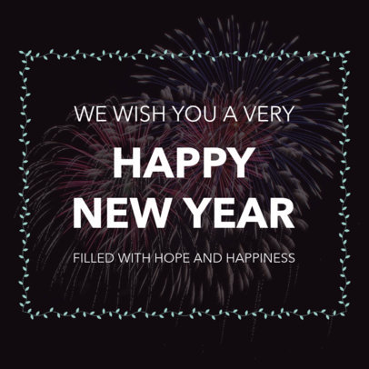 Instagram Post Template for a New Year's Eve Celebration 16613g 1858