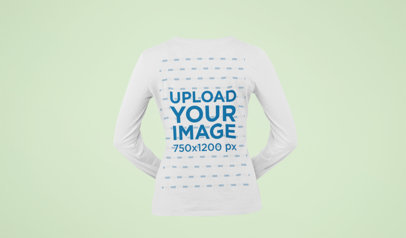 Ghosted Mockup of a Women's Long Sleeve T-Shirt 29394