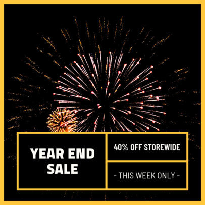 Instagram Post Maker Promoting a New Year's Special Sale 1101g 1858