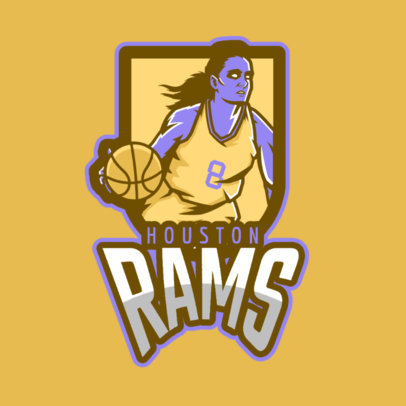 Basketball Logo Template for WNBA Fans 336h-2601