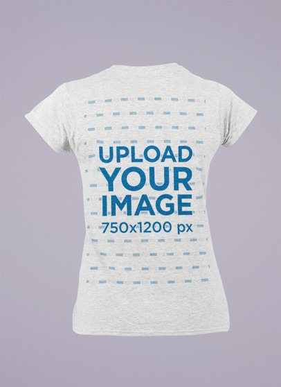 Ghosted Mockup of a Women's Heathered T-Shirt Seen from the Back 29373