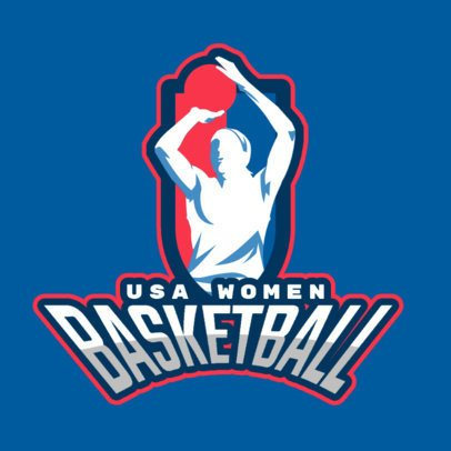 Sports Logo Generator for a Women's Basketball League 336i-2601