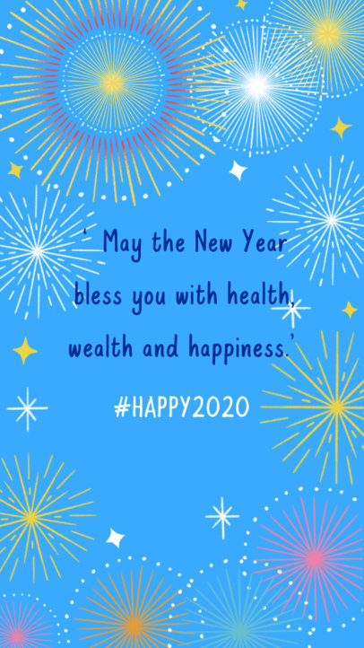 Instagram Story Maker for a New Year's Quote Featuring Fireworks Graphics 609f 1864a