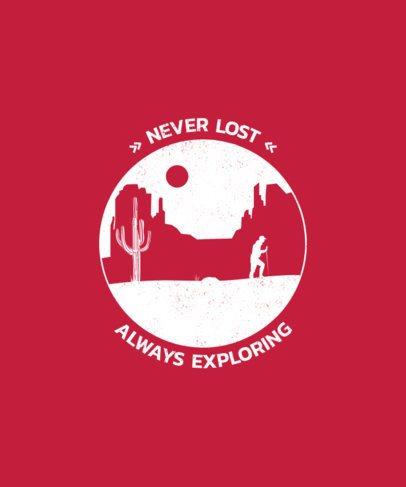 T-Shirt Design Maker for an Explorer 1850c