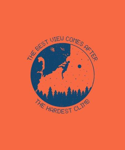 T-Shirt Design Template for a Professional Climber 1850g