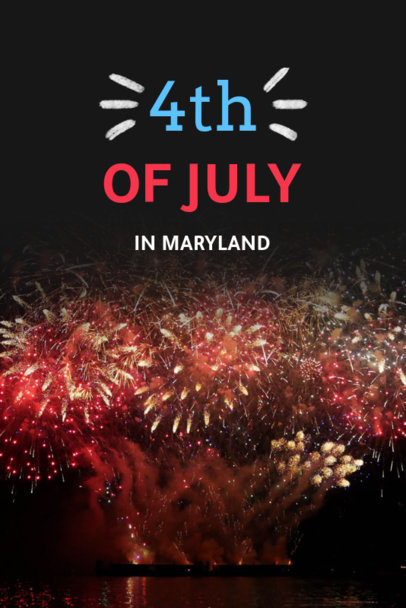 4th of July Pinterest Pin Template with a Fireworks Image 614k-1869