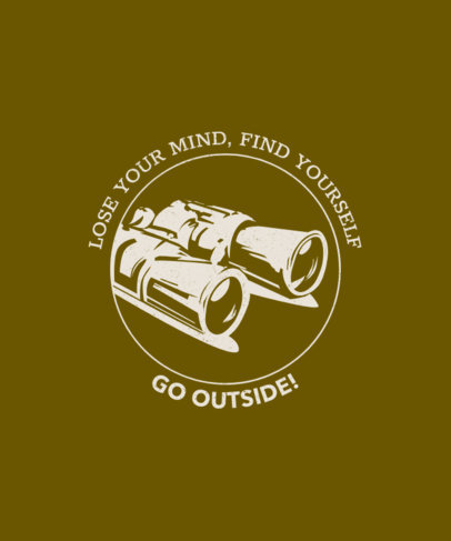 T-Shirt Design Maker with a Wanderlust Quote 1850h