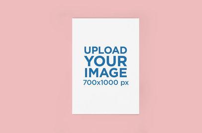 Minimal Poster Mockup Featuring a Solid Color Backdrop 354-el