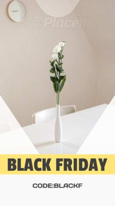 Minimal Instagram Story Video Maker for a Black Fryday Special Sale 1750b 119
