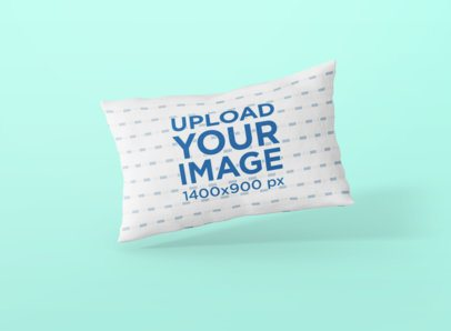 Sublimated Pillow Mockup Leaning Against a Solid Background 698-el
