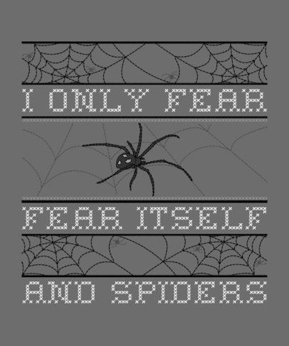 Ugly Halloween T-Shirt Design Template with a Spider Illustration 1854b